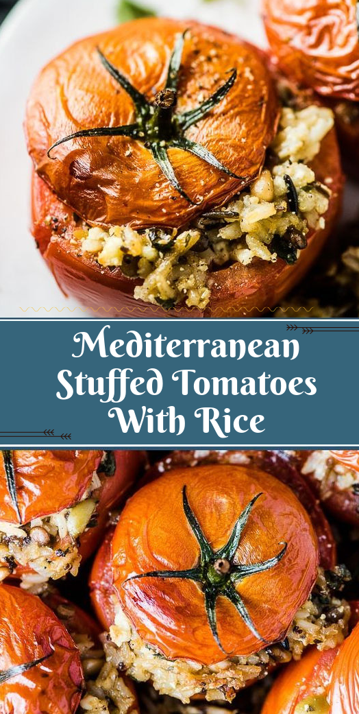 Mediterranean Stuffed Tomatoes With Rice #healthyketo #easy