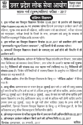 UP Staff Nurse Recruitment