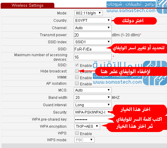 طريقة تغيير باسورد الواي فاي والراوتر تي اي داتا Te Data