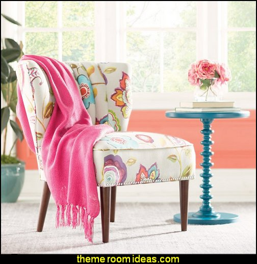 Nina Accent Chair  fun and funky - cute and colorful  - chic and trendy decorating ideas - unique decor - girls bedroom decor - colorful decor  - decorating with color - color inspiration decorating ideas - colorful bedrooms - colorful furniture - colorful bedding -