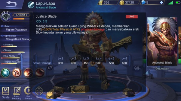 Skill 1 dalam Mode Heavy Sword Lapu-Lapu