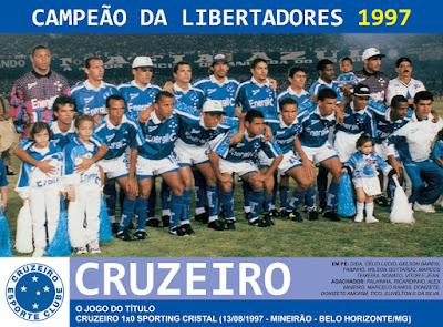 1de7603cbc Edição dos Campeões  Cruzeiro Campeão da Libertadores 1997