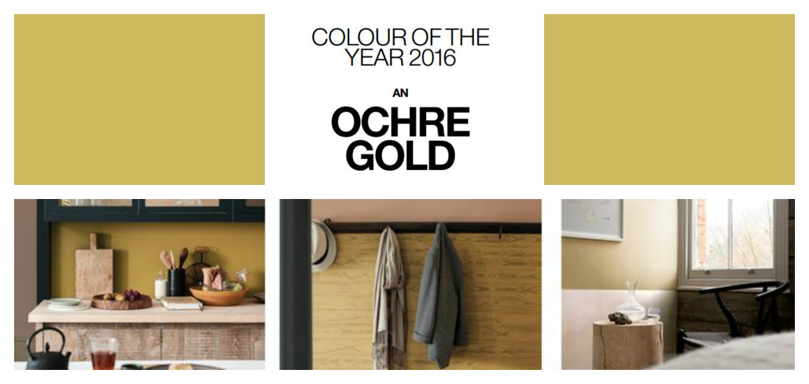 Colour futures 2016: Benvenuto Ochre Gold
