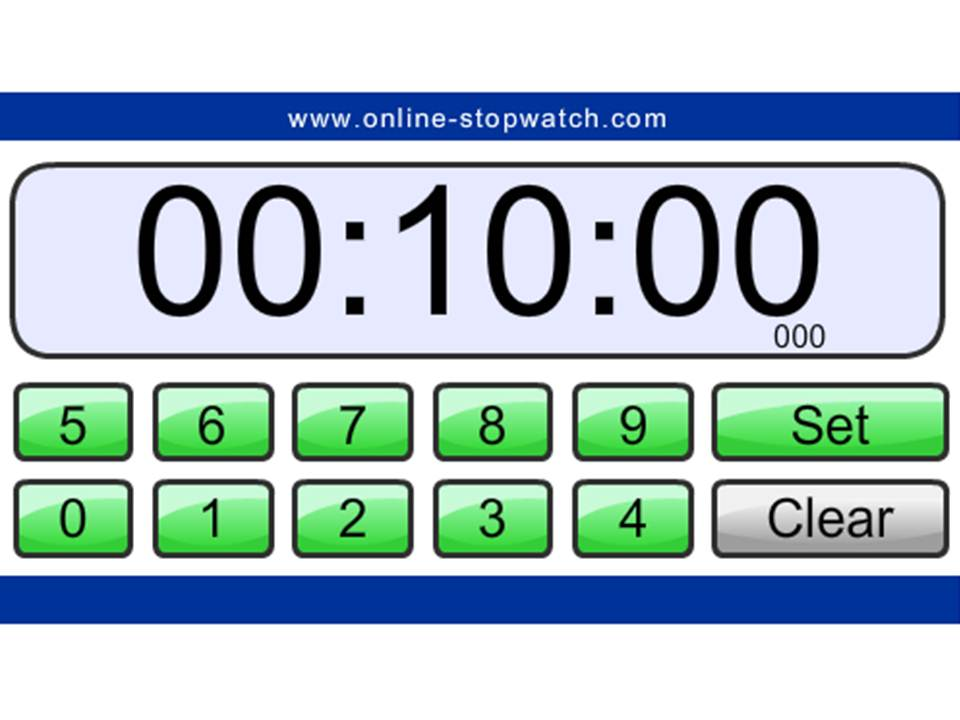 set ten minute timer