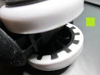 innen: LIHAO 5x Hartbodenrollen Drehstuhlrollen 10mm / 50mm Rollenset für Bürostuhl Schwarz Weiß