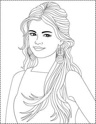 coloring pages of a | Nicole's Free Coloring Pages: Selena Gomez *** Coloring pages