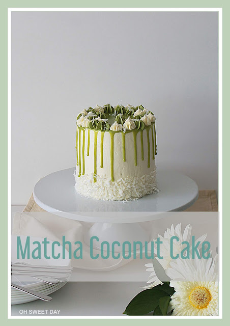 Matcha Coconut Cake