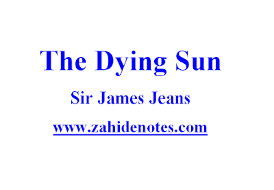 The dying sun by sir james jeans