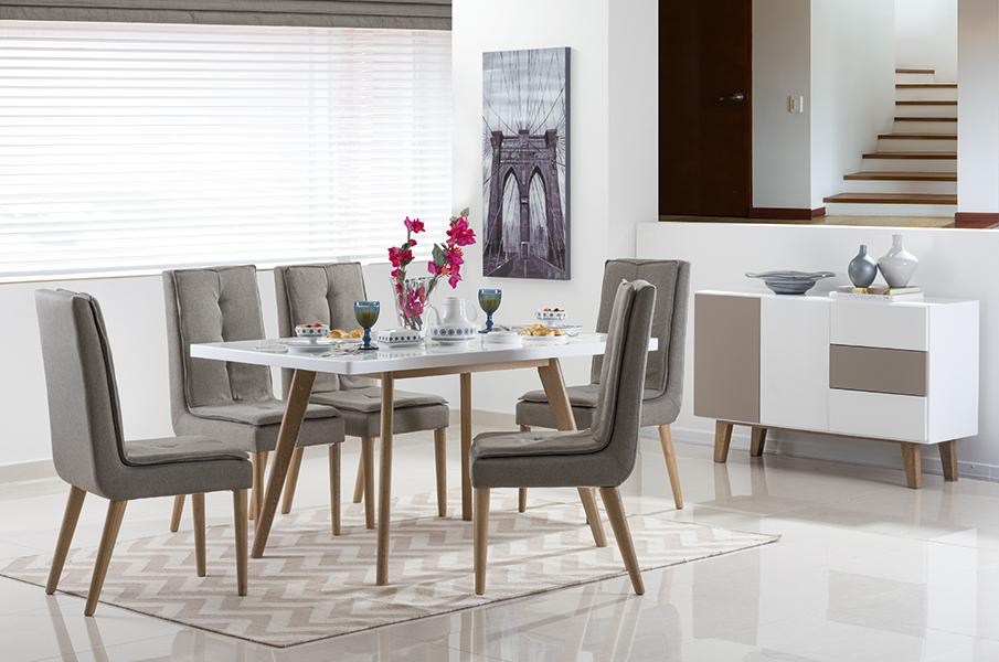 Modernas salas de jantar decoradas de forma simples Muebles de sala jamar 2016