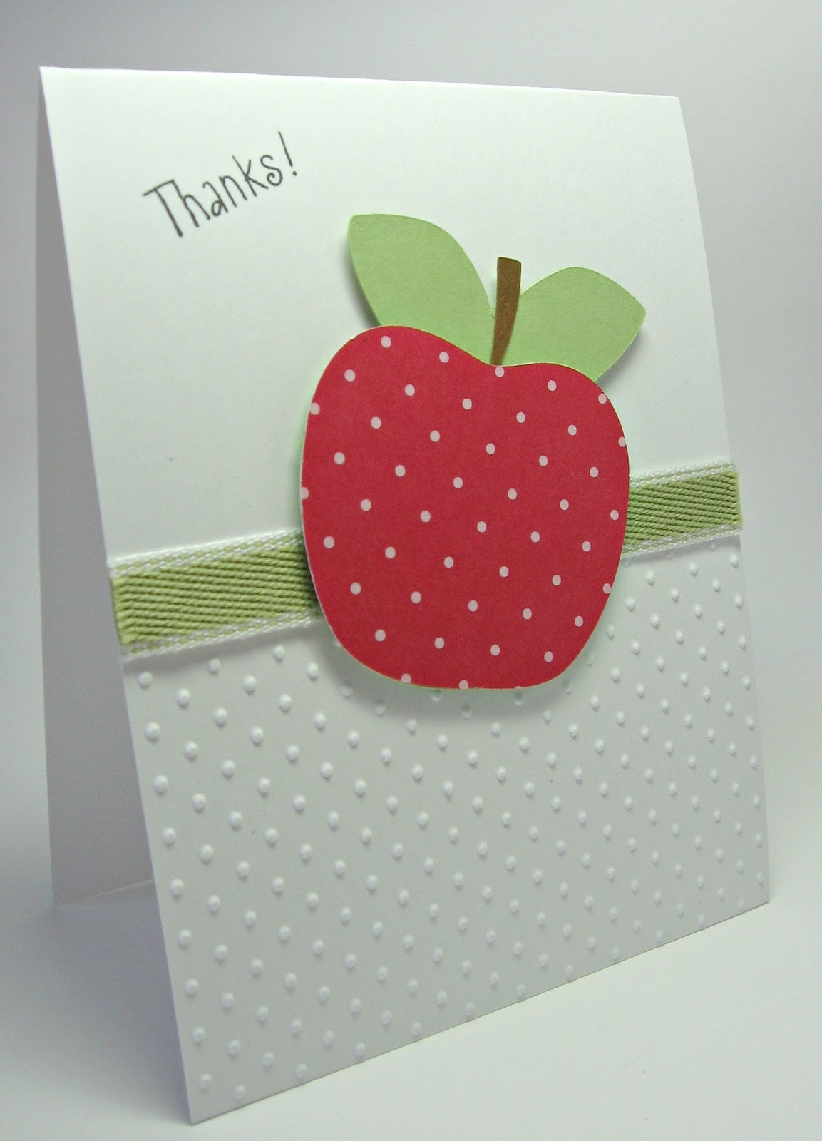 stamping up north with laurie: Cricut Thank you card