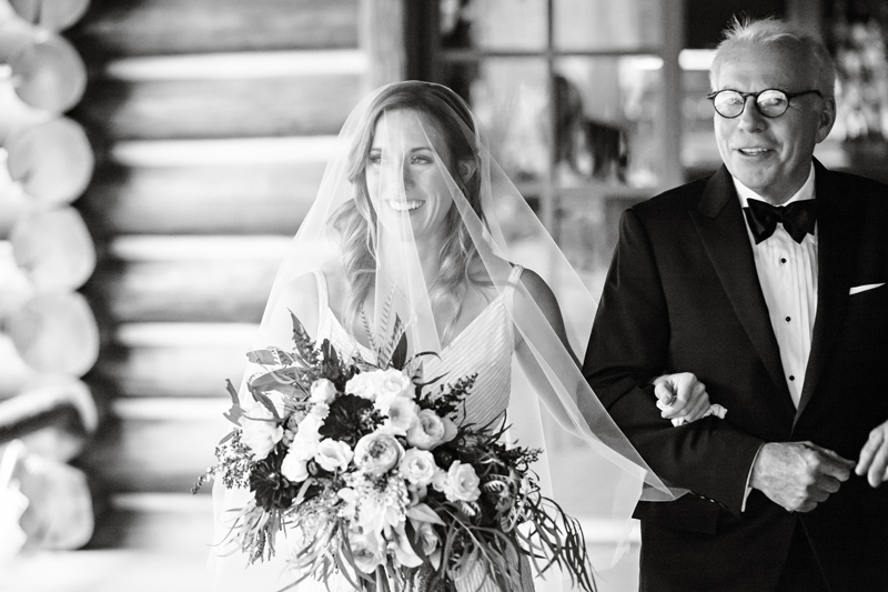 Black and White Photography / Photography: Brooke Peterson Photography / Wedding Coordinator: Courtney of 114-West / Venue: Kootenai Lodge / Bride's Bouquet: Mum's Flowers / Bride's Gown: J.Crew / Groom's Tux: J.Crew / Makeup Artist: Britlee of Envy Salon & Spa /