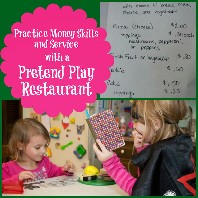 Money learning becomes fun with a play restaurant