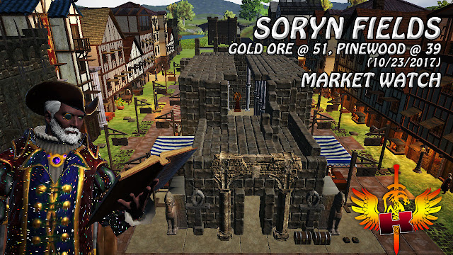 Shroud Of The Avatar Market Watch (10/23/2017) 💰 Soryn Fields - Gold Ore @ 51, Pinewood @ 39