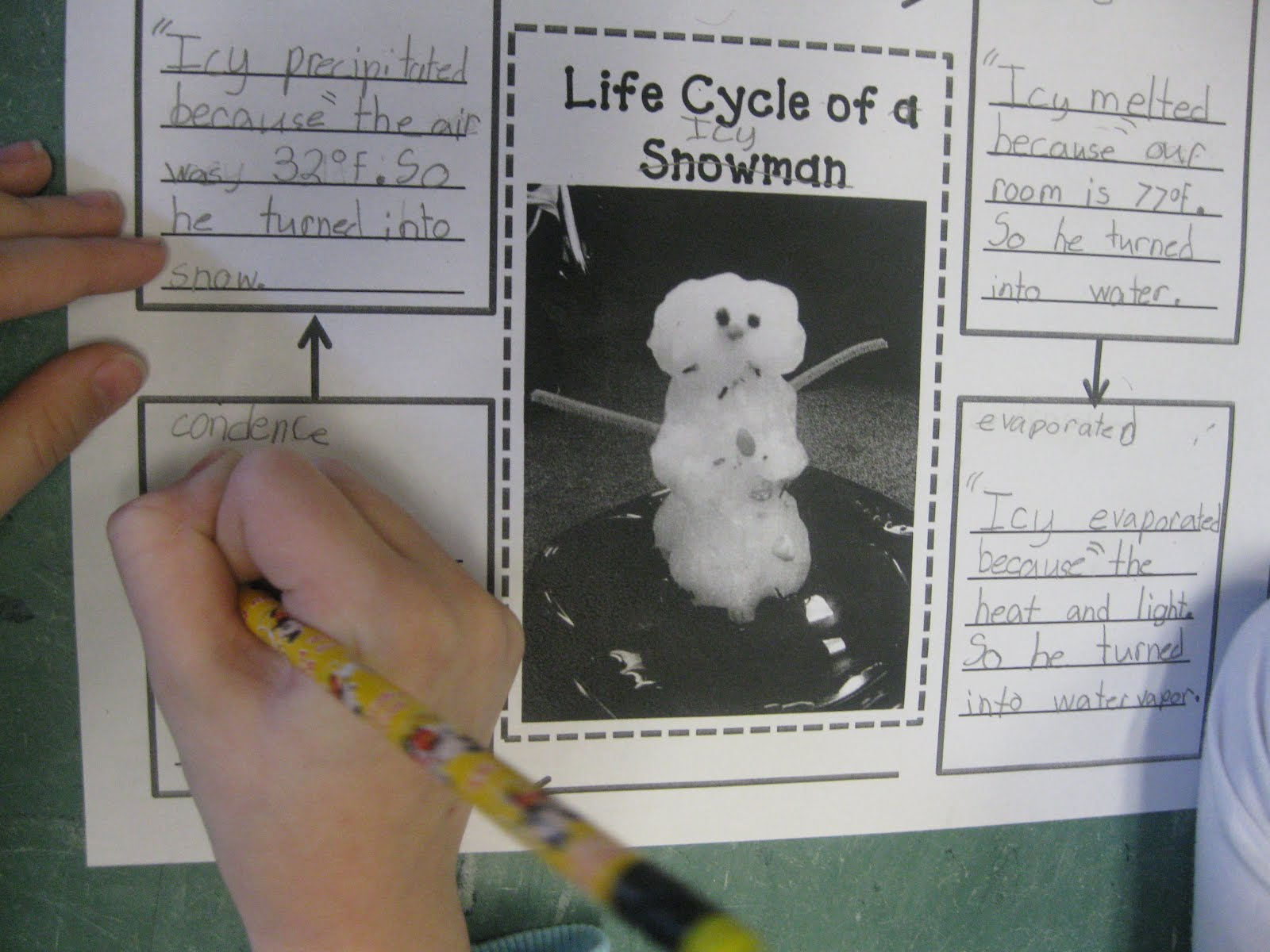 Third Grade Thinkers The Life Cycle Of A Snowman A Water Cycle Review
