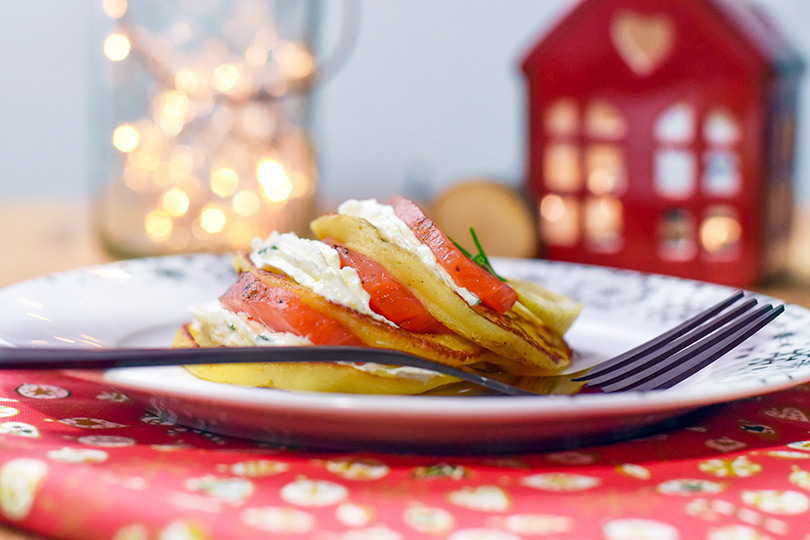 recette Blinis de pommes de terre et truite gravlax