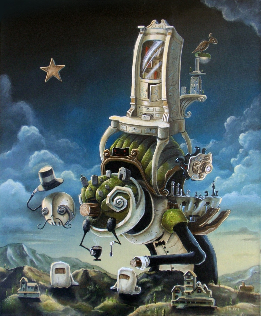 11-The-Antique-Collector-Matt-Linares-Surreal-Paintings-of-Worlds-in-Parallel-Universes-www-designstack-co