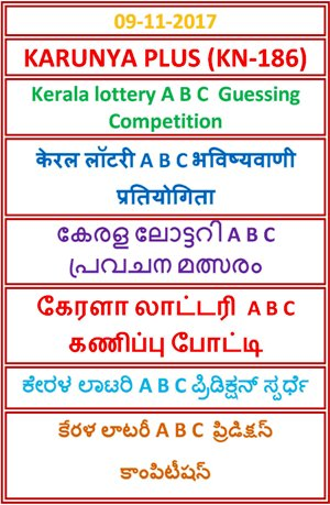 A B C Guessing Compatition KARUNYA PLUS KN-186