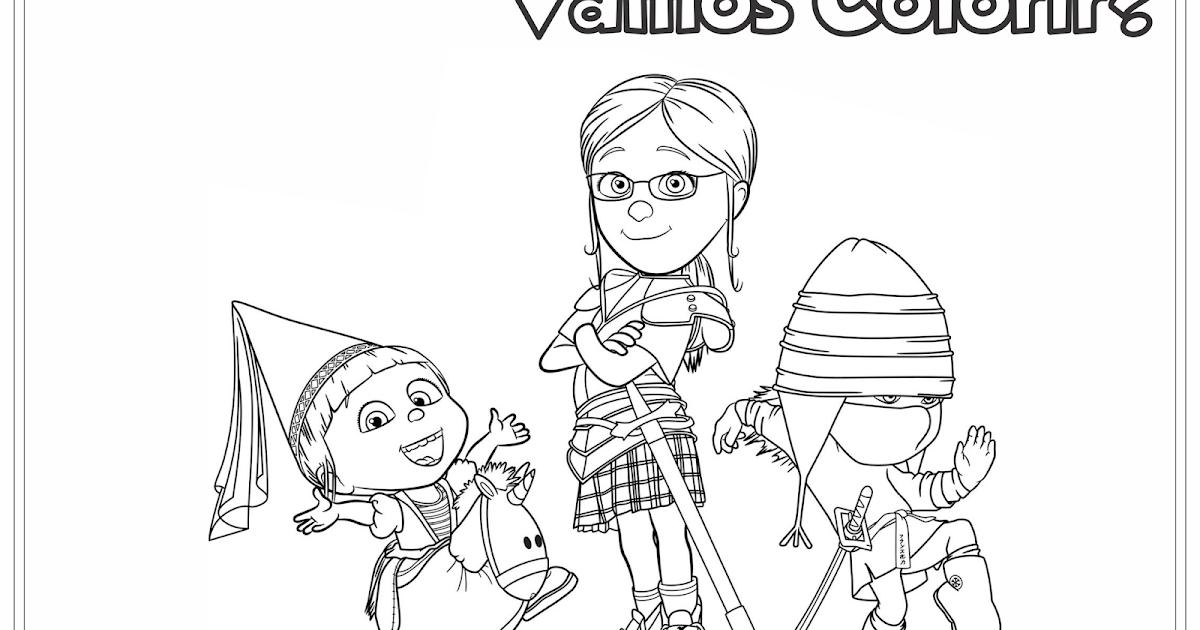 Meu Malvado Favorito 2 Margo Edith E Agnes Desenho Para Colorir