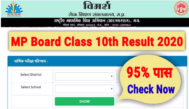 Mp Board class 10th Result 2020