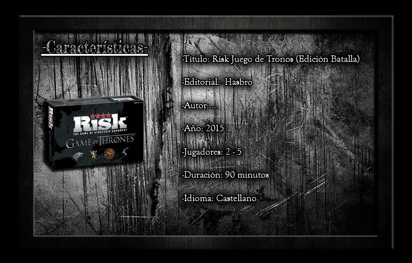 Juegos de Mesa Risk Juego de Tronos Resea