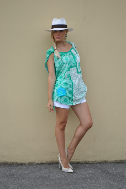 come abbinare il cappello panama panama hat how to wear panama hat how to match panama hat canotta oversize stampata felicia magno outfit agosto 2016 summer outfit outfit agosto 2016  mariafelicia magno fashion blogger blog di moda fashion blog italiani web influencer printed oversize top tank how to wear oversize top tank