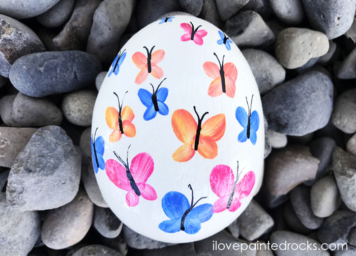 best butterfly rock painting ideas