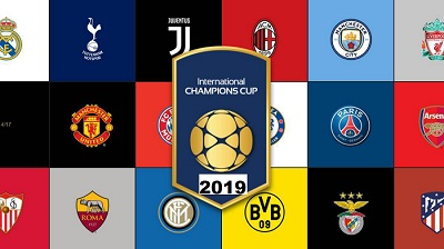 International Champions Cup 2019, teams Summer fixtures, matches schedule, dates, kickoffs time, host cities venues
