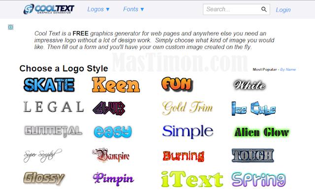 Buat logo dan tulisan online dengan cooltext yang cantik dan menarik