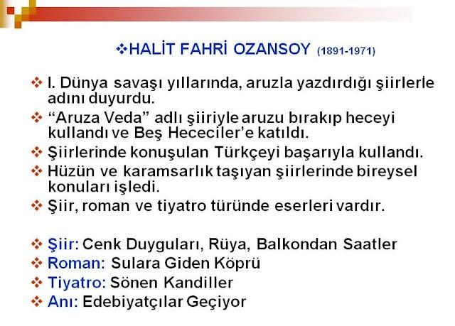 Halit Fahri Ozansoy eserleri