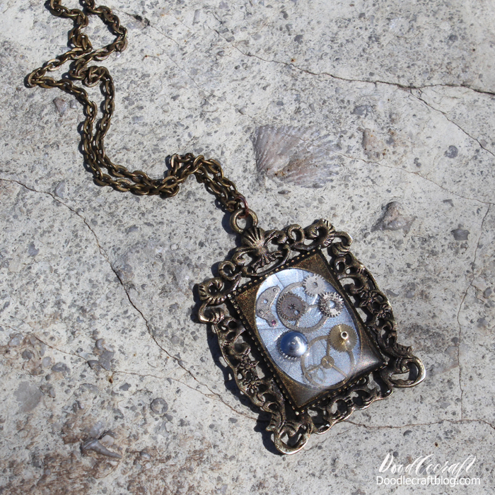 Doodlecraft steampunk resin pendants diy steampunk resin necklace pendant diy i featured this at eti resin crafts blog as part of their blogger creative team resin is so fun to work with and so aloadofball Gallery