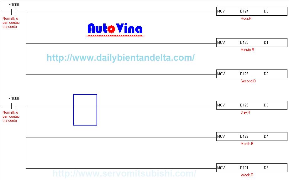 Hướng dẫn lập trình sử dụng lệnh MOV - di chuyển, nạp dữ liệu thanh ghi trong PLC Delta