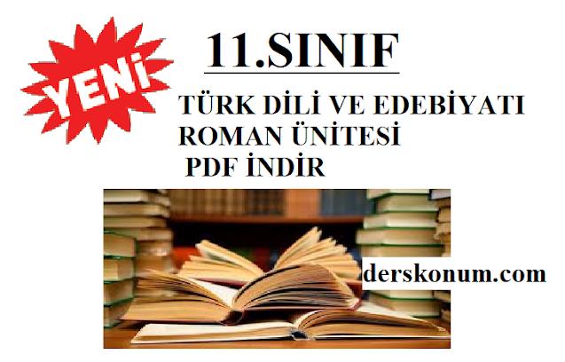11.SINIF TÜRK DİLİ VE EDEBİYATI ROMAN ÜNİTESİ KONU ANLATIMI PDF