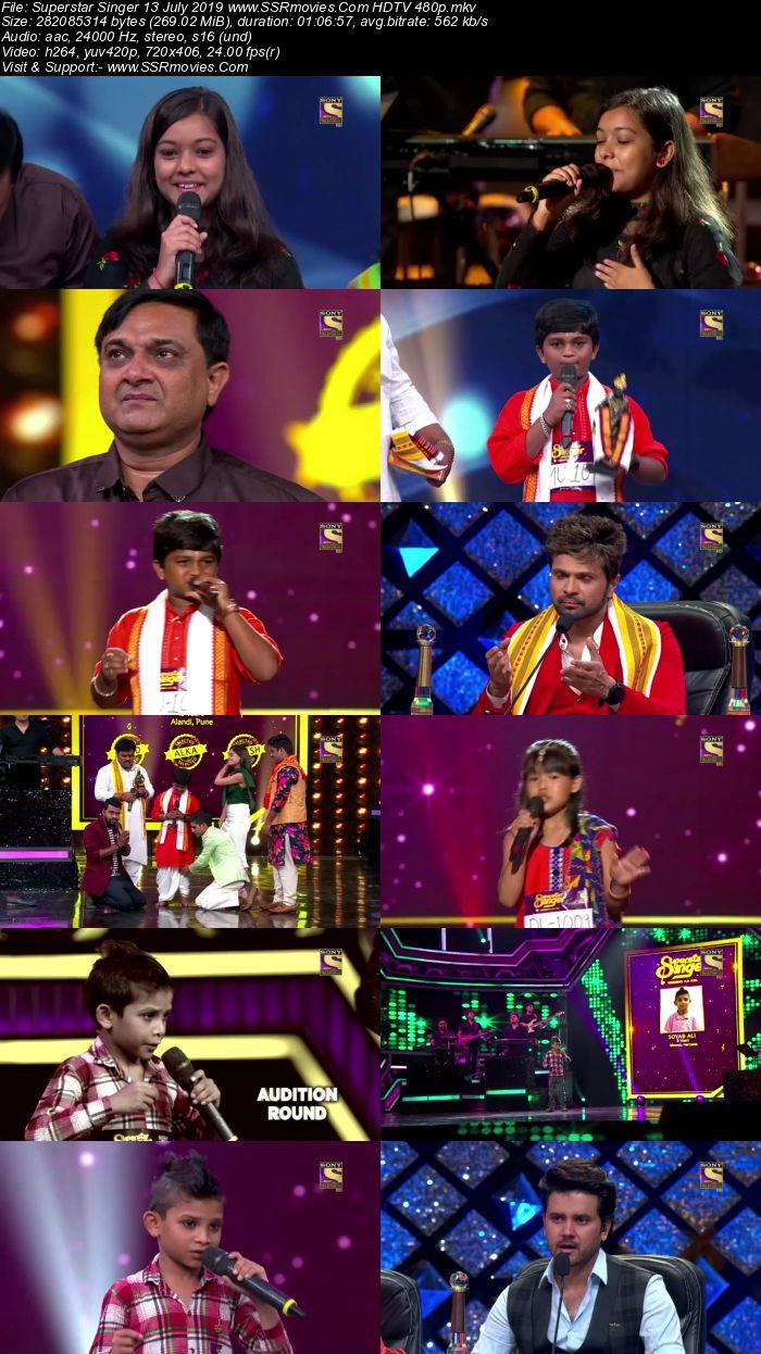 Superstar Singer 13 July 2019 HDTV 480p Full Show Download