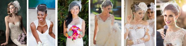 modelos de vestidos de noiva para usar com voillette