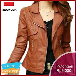 NAG036 Jaket Kulit Wanita Mantul Premium Murah Bmgshop