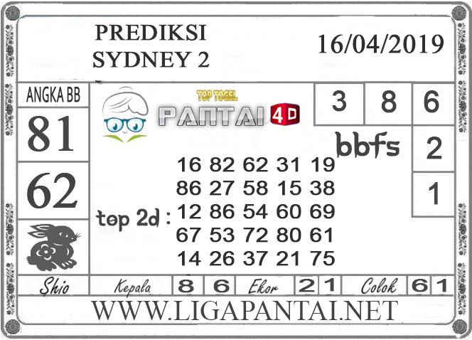 """Prediksi Togel """"SYDNEY 2"""" PANTAI4D 16 APRIL 2019"""