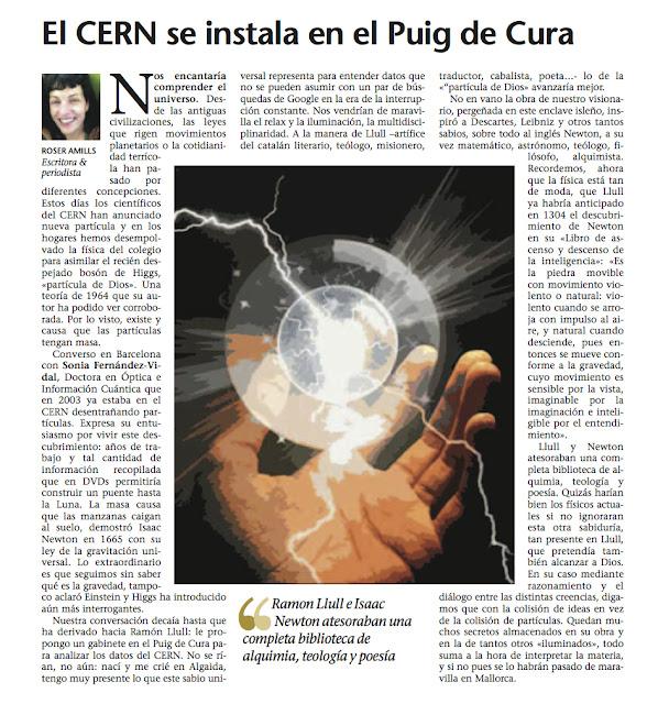 Última Hora | 'El CERN se instala en el Puig de Cura', por Roser Amills