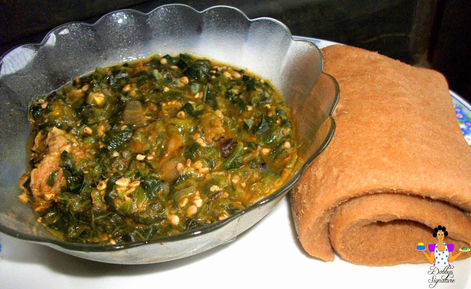Image result for wheat and okro soup