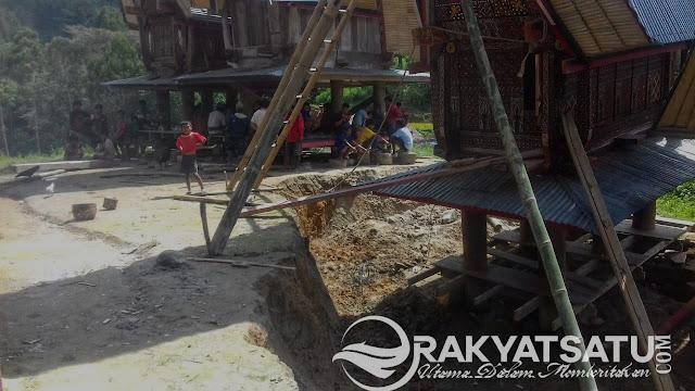 BPBD Tana Toraja Terjun ke Lokasi Lumbung Amblas di Malimbong Balepe