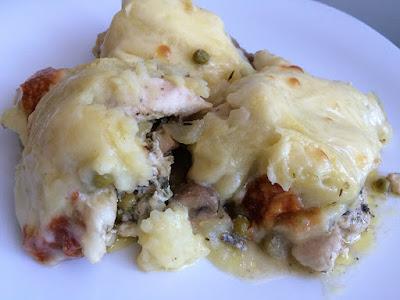 Zapiekanka z ziemniakami i kurczakiem