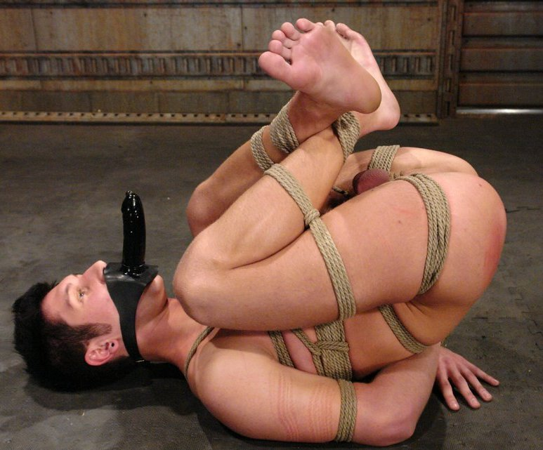 Naked man tied up fucked will not