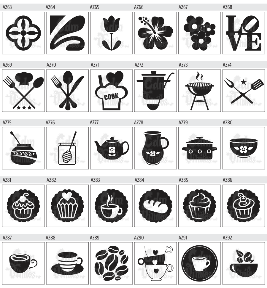 Pack De Vinilos Decorativos Para Azulejos De Cocinas Y Banos Cdm