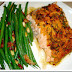 Teriyaki Salmon And Green Beans With Bacon & Pine Nuts Recipe