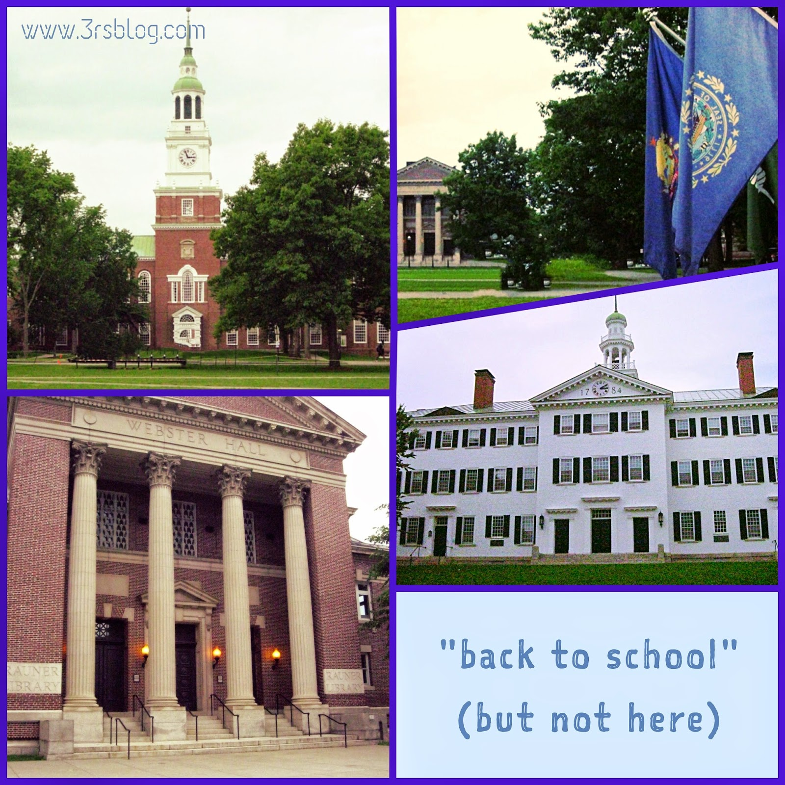 Photo collage Dartmouth College Hanover NH June 2013
