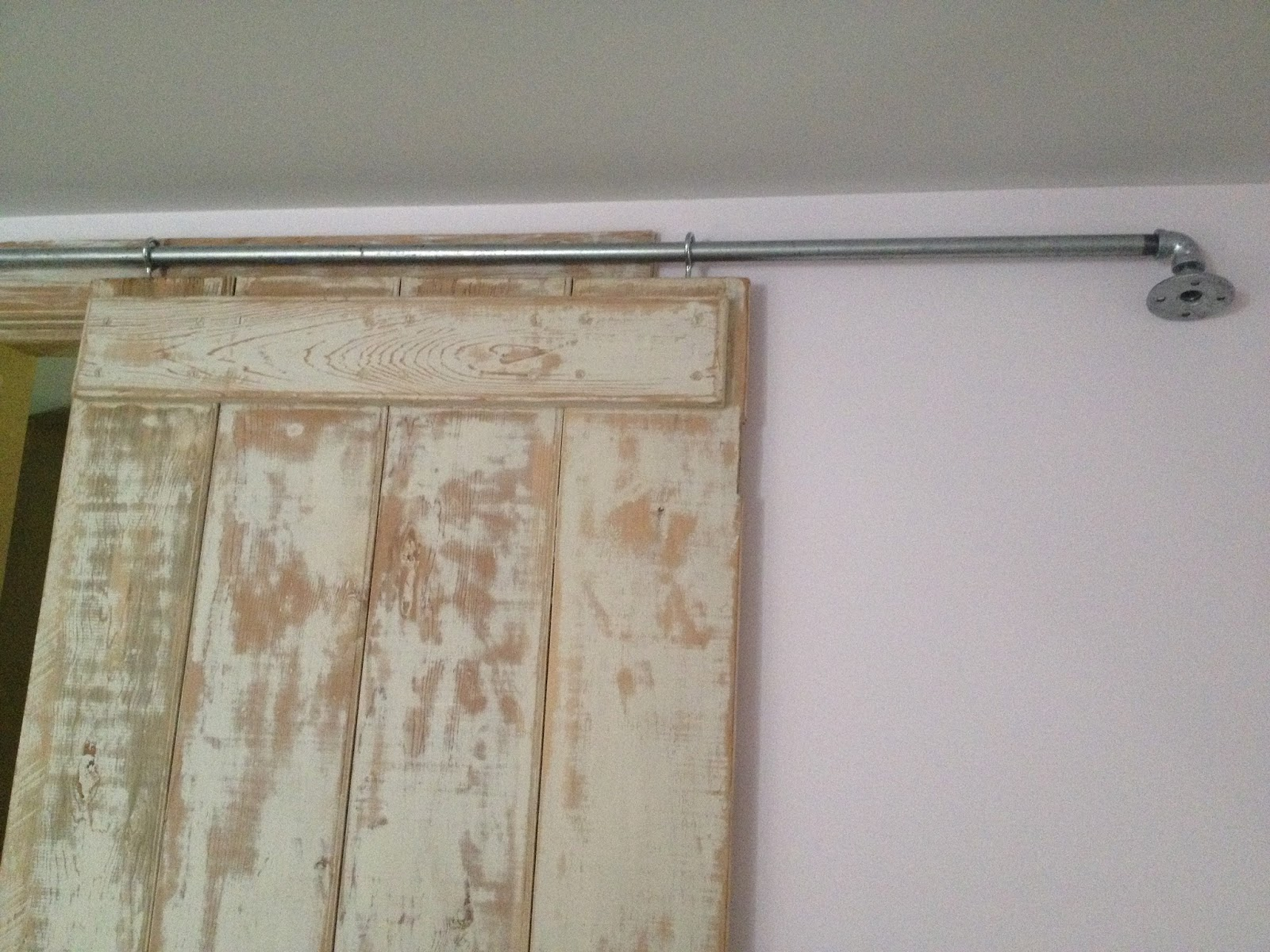 pipe for sliding barn door