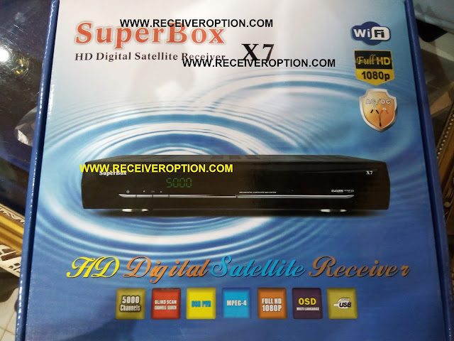 SUPERBOX X7 HD RECEIVER BISS KEY OPTION