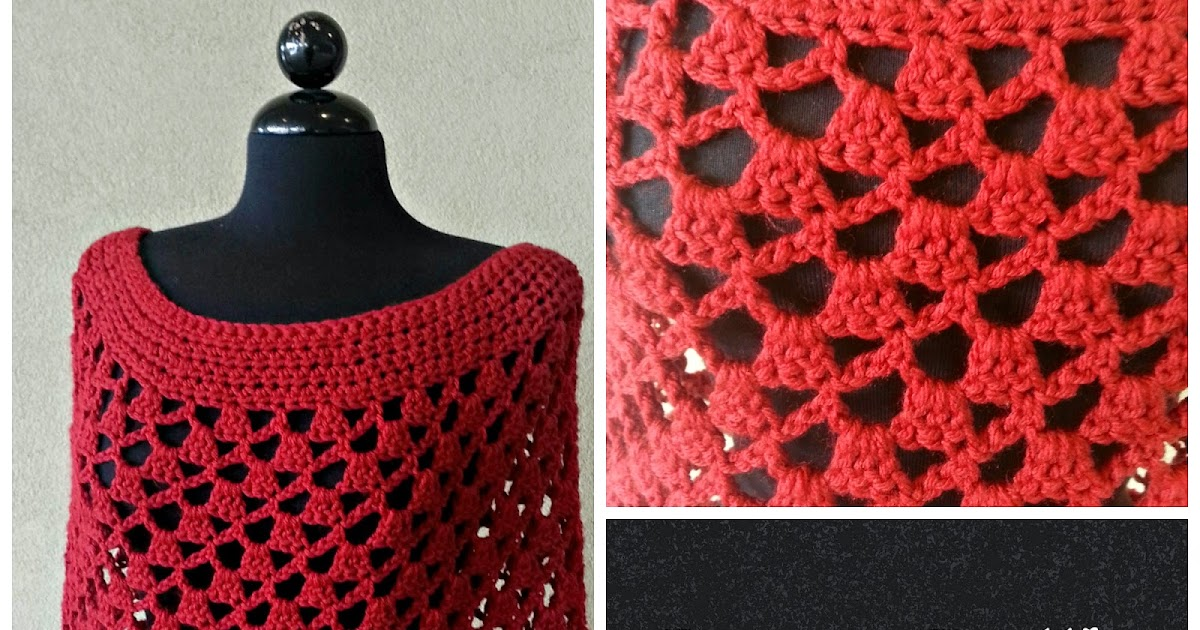 Lacey Trellis Poncho - Spiral Version - Free Pattern | Tw-In Stitches