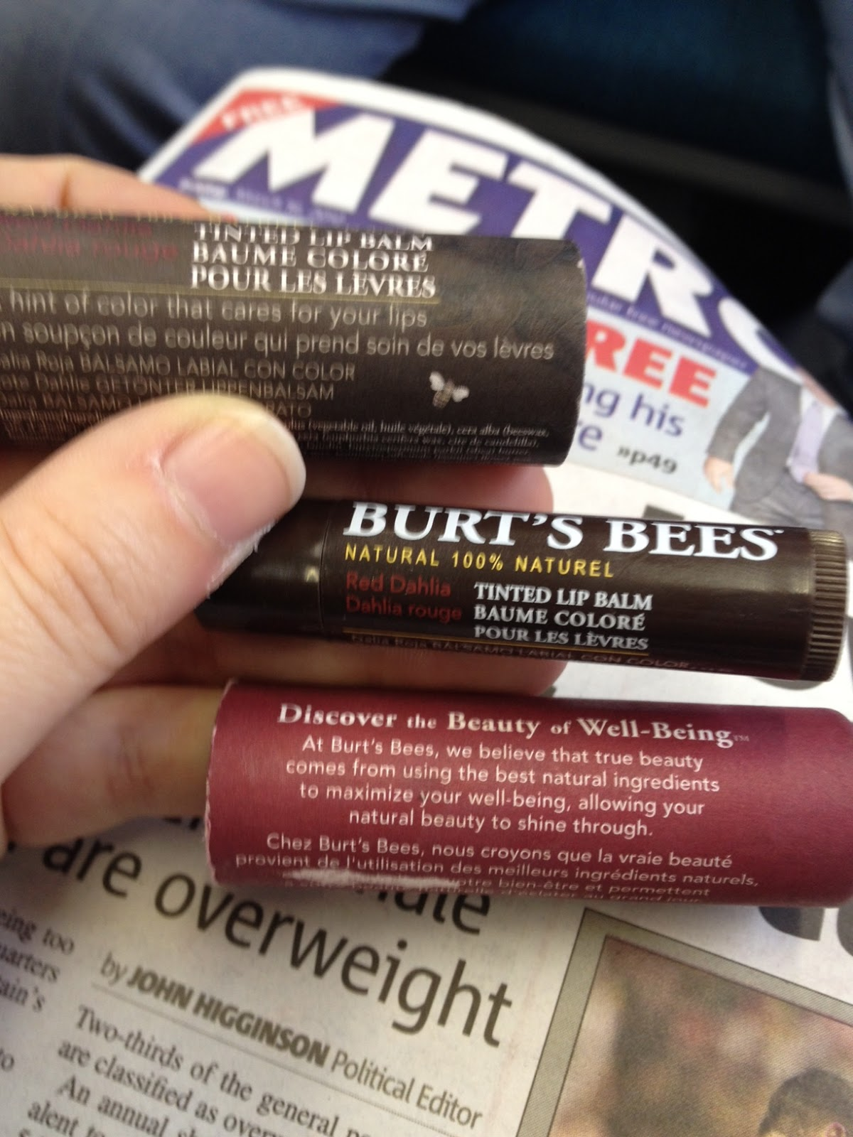 My latest obsession Burt's Bees Tinted Lip Balm | Beauty