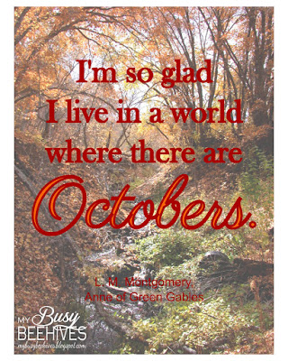 "Anne of Green Gables ""October"" quote"