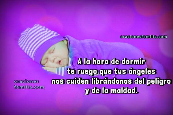 Oraciones cortas de dormir en la noche, dulces sueños con oración corta de buenas noches por Mery Bracho. Imágenes cristianas de bebé durmiendo.